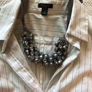Ann Taylor fitted short sleeve shirt